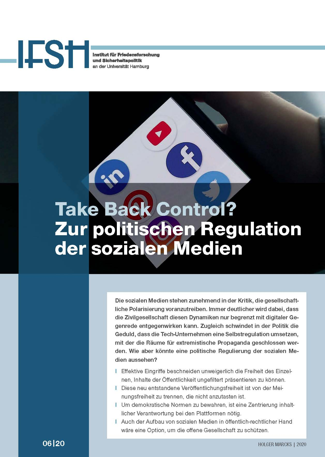 2020-08-05_Cover__IFSH_Policy_Brief_Holger_Marcks_web